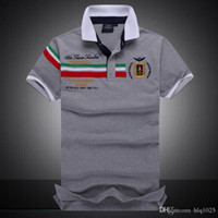Polo Shirts for men Fashion poloshirt men Purple Blue Red Gr...