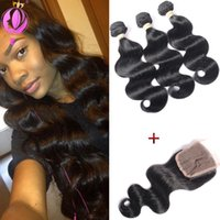 Brazillian Body Wave With Lace Closure Brazilian peruvian in...