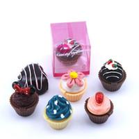 6 цветов торта губы блеск косметические помады клубничное мороженое помидор черри милое сердце цветок макияж блеск для губ