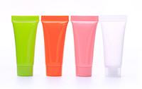 10 ml 100 stücke Weiche Nachfüllbare Kunststoff Lotion Tubes Squeeze Kosmetische Verpackung Creme Tube Schraubdeckel Flaschenbehälter