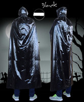 Halloween Cosplay Umhang mit Kapuze Mänteln Karneval Halloween-Kostüm-Abendkleid Ball Magd Partei Kinder erwachsen constume Tod Wizard Umhang