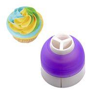 3Color أدوات تزيين الكعكة بودرة الأنابيب كريم المعجنات حقيبة فوهة محول E00257 ONET
