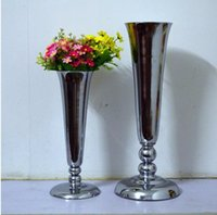 wedding other festive u0026 party supplies silver h38 53cm l size metal flower vase for home decoration accessories large floor vases for wedding decoration