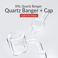 2018 Flat top Quartz Banger Nail With UFO Clear Carb Cap 2mm...