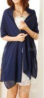 Veste de mariage pas cher Wraps Bolero Femmes en mousseline de soie Cap Wrap Shrug pour robes de soirée Couleur personnalisée Livraison gratuite 180cm 70cm largeur