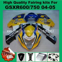 Обтекатель впрыска для SUZUKI GSXR600 GSXR750 2004 2005 GSX-R600 GSX-R750 GSXR 600 750 04 05 обтекатели комплект желтый белый синий черный #72L 9Gifts