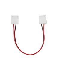 단일 색상 LED 스트립을위한 2 핀 LED 커넥터 5050 3528 두 끝 커넥터 어댑터 쉬운 필요 납땜 8mm의 10mm를 연결하지