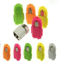USB مايكرو USB لمحول وتغ الروبوت الروبوت الشكل وتغ محول للهاتف الذكي، والهاتف المحمول اتصال لUSB فلاش / الماوس / لوحة المفاتيح العالمي (SY)