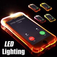 Chamada relâmpago flash led light up à prova de choque macio tpu capa case pele para iphone xs max xr x 8 7 6 plus 5 samsung galaxy s10 e s9 s8 nota 9