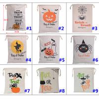 Christmas Gifts Bags Pumpkin Shopping Bags Festival Gifts Bag Halloween Canvas Bag Storage Bags 36*44CM WX-B10