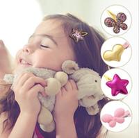 뜨거운 판매! 여름 스타일 금속 색상 어린이 크라운 아기 머리 핀 여자 헤어 액세서리 아기 스타 헤어 클립