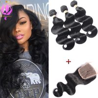Brazilian Hair With Closure Unprocessed Virgin Human Hair We...