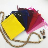 Сумки для ювелирных изделий Сумки для хранения вещей Flannelette Cloth Материал для свадьбы 10 * 12 см Комплект ювелирных изделий Бесплатная доставка 0582WH