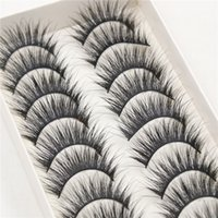 The new 10 pairs of make- up beauty false eyelashes to extend...