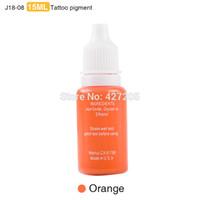 Gros-2016 Permanent Maquillage Encre Sourcils Tatouage Encre Set Lip Microblading Pigment Professionnel Encre A Levre Orange 1 / 2OZ 15 ml 3 Pcs J18