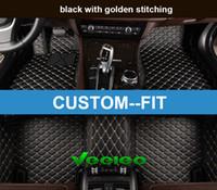 Tapis de sol en cuir pour voiture Veeleo Custom-Fit 6 couleurs pour BMW série 2/3/4/5/6/7 Tapis de protection anti-glisse 3D