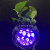 Arrangements floraux Sous Vase Lumière Télécommande Luminosité Étanche Télécommande Led Shisha Narguilé Base de Fête De Mariage De Noël Hol