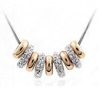 New Fashion 18K White Gold banhado austríaca Cryatal Colar do encanto para as mulheres jóias noiva de alta qualidade grátis