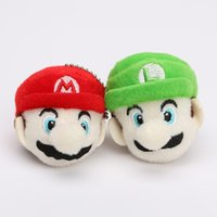 10pcs lot Super Mario Bros Anime 6cm Keychain Luigi Mario Pl...