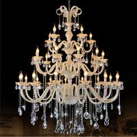 stanza moderna del candeliere di cristallo grande Lampadario di cristallo grande lussuoso antico per l'hotel Sala lampada di lusso del candeliere del candeliere del corridoio di vendite