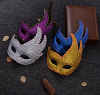 High- end painted flame mask Mascara masks Halloween performi...