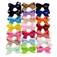 Baby Girls Bows Clips Hairpins Girls Grosgrain Ribbon Bows H...