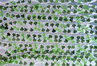 250 см искусственный шелк моделирования creeper восхождение лозы Зеленый лист плющ ротанга для дома забор декор бар ресторан свадебные украшения