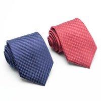 Hombres de alta calidad Corbatas delgadas Cuello rojo Corbata flaca Corbatas 8 cm Ancho Boda de negocios Casual hombres Corbatas