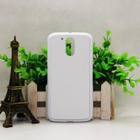 2D Blank Sublimation DIY Kundenspezifische Gummi TPU + PC Telefon Fall für MOTO G4 Handy Fall mit Aluminium-Einsätze