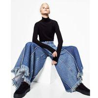 Bahar moda popo kaldırma kot kadın yeni yüksek bel bayan kot gevşek tasarım denim pantolon kadınlar için geniş bacak sokak kürk Pantolon
