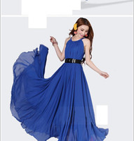 Long maxi dress plus size women expansion bottom long chiffo...