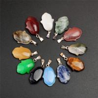 Random Quarzo Cristallo Healing Rock Stone Cute Baby Mano Palm Chakra Charms Perle fai da te Ciondolo per la collana Bracciale Orecchini Creazione di gioielli