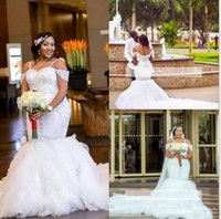 2019 South African Plus Size Wedding Dresses Spaghetti Beads...