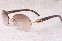 Óculos de sol retros da forma redonda de alta qualidade 8100903 Cor do pavão natural Espelho de madeira A melhor qualidade óculos de sol óculos Tamanho: 58-18-135 mm
