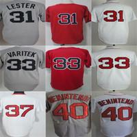 Özel Mens Bayan Çocuklar Boston Jon Lester Jersey Jason Varitek Bill Lee Andrew Benintendi Flex Baz Serin Beyzbol Formaları