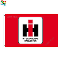 GoodFlag شحن مجاني حصادة أعلام حمراء الدولي راية 3X5 قدم 90 * 150CM بوليستر في الهواء الطلق العلم