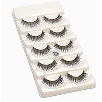False Eyelashes 5 Styles Thick Crisscross Winged Natural Lon...