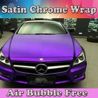 Matt Metallic Purple Vinyl Wrap med luftbubbla Fri för bilomslag Film Styling Foil 1,52 * 20m / Rulle (5FTX66FT)