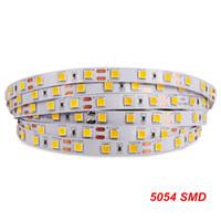 SMD 5054 Светодиодные полосы света Highlight водить ленты 60LEDs / м DC 12V Много Ярче 5050 5630 3528 Гибкие светодиодные ленты Полоса ленты