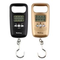 مصغرة شنقا مقياس جيب المحمولة 50 كيلوجرام LCD الرقمية الأمتعة الترجيح الصيد هوك مقياس المقاييس الإلكترونية أداة قياس الوزن