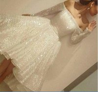 Arabic Sexy Off The Shoulder Sparkling Sequins Prom Dresses ...