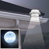 All'ingrosso-1pc 3 LED Solar Sensor Sensor Impermeabile Solar Light LED Street Light Outdoor Path Wall Hall Path Lamp Security Spot Illuminazione