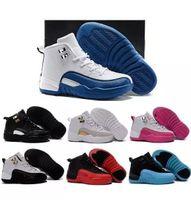 Çocuk 12 Basketbol Ayakkabıları Erkek Kız Erkek Çocuklar için Atletik Spor Ayakkabı Ücretsiz Nakliye boyutu: 28-35