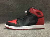 Wholesale with box 1 OG High Banned Bred Black red men baske...