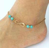 Hot sales anklets women Anklet turquoise Eight words souveni...