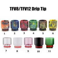 TFV8 TFV12 Drip Tip Fit TFV8 Tank Atomizer Glass Epoxy Resin...