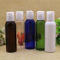 Botella de loción plástica marrón blanca transparente al por mayor vacía de 60ml, envase de plástico 60ml para los cosméticos, botella plástica recargable pequeña