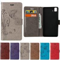 إلى Samsung G850 G313 G350 G550 S7392 I9060 9082 E5 E7 ON7 تنقش فراشة محفظة الحافظة إدراج بطاقات
