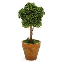 Grossist-artificiell trädgård gräs bröllop arrangemang buxus stjärna fågelbollar boxwood topiary landskap falska träd krukor växter