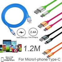 1. 2M 2A Fast Charging Micro USB Data Cable Alloy Color TPE C...